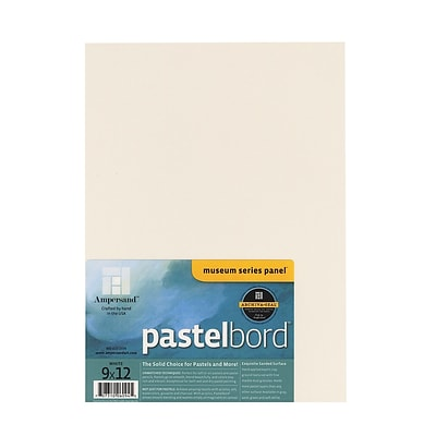 Ampersand Pastelbord 9 In. X 12 In. White Each (PBW09)