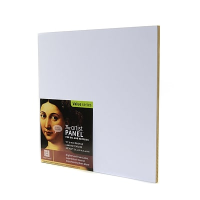 Ampersand The Artist Panel Canvas Texture Flat Profile 10 In. X 10 In. 3/8 In. (AP9M1010)