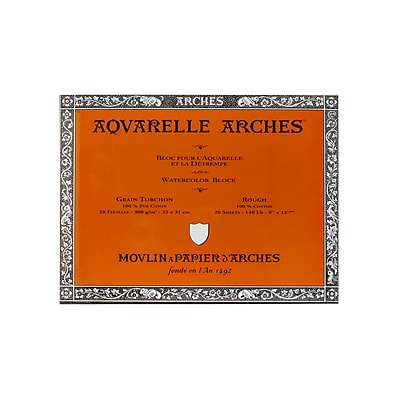 Arches Aquarelle Watercolor Block 140 Lb. Rough 9 In. X 12 In. (200177165)