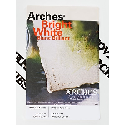 Arches Watercolor Paper 140 Lb. Cold Press White 44 1/2 In. X 10 Yd. Roll (204002204)