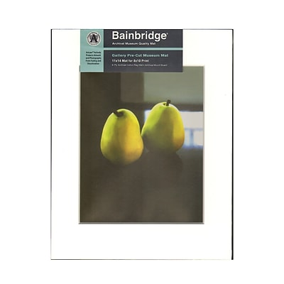 Bainbridge Archival Museum Quality Mat 11 In. X 14 In. Centered For 8 In. X 10 In. White (GM11C)