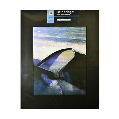 Bainbridge Archival Museum Quality Mat 16 In. X 20 In. Centered For 11 In. X 14 In. Black (AB14C)