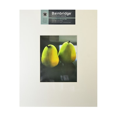 Bainbridge Archival Museum Quality Mat 16 In. X 20 In. Centered For 8 In. X 10 In. White (GM10C)