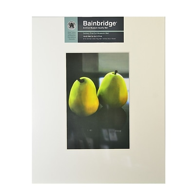 Bainbridge Archival Museum Quality Mat 16 In. X 20 In. Centered For 8 In. X 12 In. White (GM12C)
