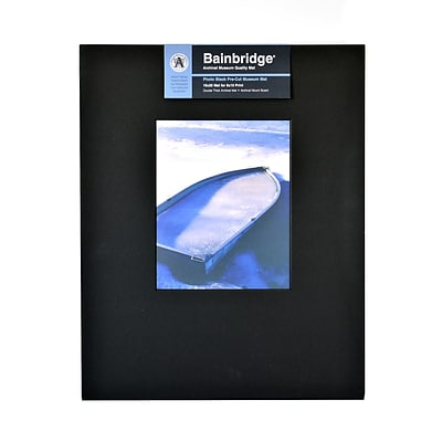 Bainbridge Archival Museum Quality Mat 16 In. X 20 In. Portrait For 8 In. X 10 In. Black (AB10P)