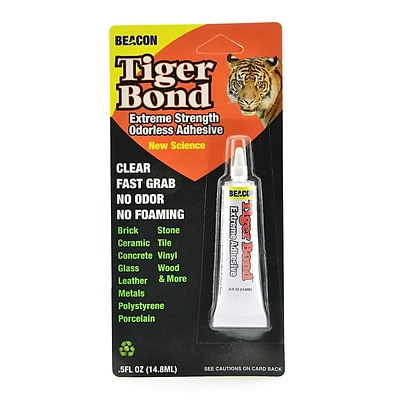 Beacon Tiger Bond Extreme Adhesive 0.5 Oz. Tube [Pack Of 3] (3PK-TB50ZTBC06)
