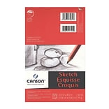 Canson Foundation Sketch Pads, 5-1/2 In. x 8-1/2 In., 50 Sheets, Pack Of 6 (6PK-100511028)