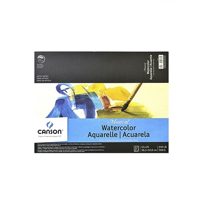 Canson Montval Watercolor Paper, 15 In. x 20 In., Pad Of 12 140 Lb. Cold Press (100511053)