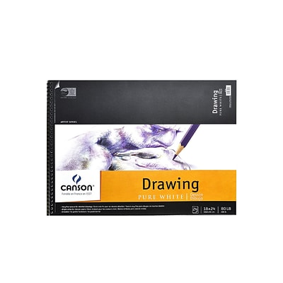 Canson Pure White Drawing Pads, 18 In. x 24 In. (100510893)
