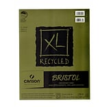 Canson XL Recycled Bristol Pads, 11 In. x 14 In., Pad Of 25 Sheets, Fold-Over (100510933)