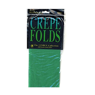 Cindus Crepe Paper Folds Emerald Green [Pack Of 6] (6PK-1181)