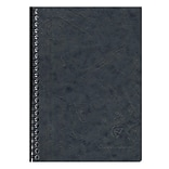 Clairefontaine Age Bag Notebook, 5.83 x 8.27, Lined, 60 Sheets, Glossy Black (785661C)