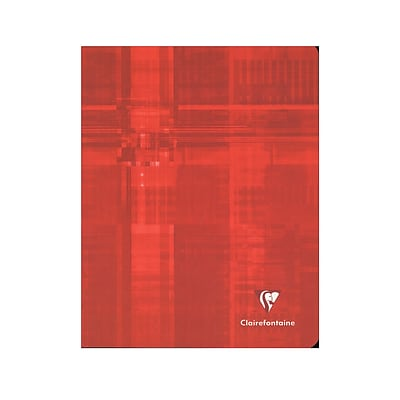 Clairefontaine Classic Staple-Bound Notebooks Ruled With Margin 6 1/2 In. X 8 1/4 In. 48 Sheets [Pack Of 10] (10PK-383)