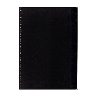 Clairefontaine Classic Wirebound Notebooks 8 1/4 In. X 11 3/4 In. Ruled With Margin, Black Cover 50 Sheets 5/Pack (5PK-781451)
