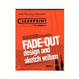 Clearprint Fade-Out Design And Sketch Vellum - Grid Pad 10 X 10 8 1/2 In. X 11 In. Pad Of 50 (100034