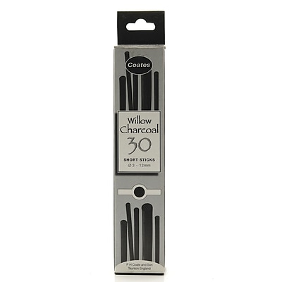 Coates Willow Charcoal 3 Mm - 12 Mm Assorted Half Length Box Of 30 (1004)