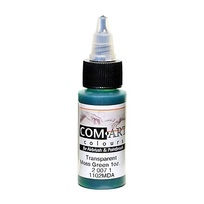 Com-Art Transparent Airbrush Color Moss Green [Pack Of 4] (4PK-2-007-1)