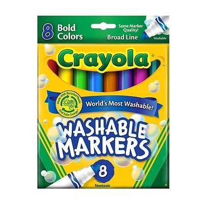 Crayola Bold Colors Ultra-Clean Washable Markers Broad Box Of 8 [Pack Of 6] (6PK-58-7832)