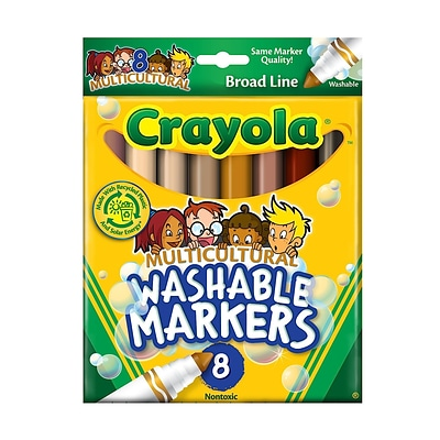crayola multicultural colors ultra clean washable markers box of 8