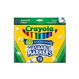 Crayola Washable Markers -- Assorted Colors Conical Tip  [Pack Of 3] (3PK-58-7812)