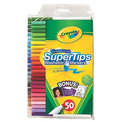 Crayola Washable Super Tip Markers With Silly Scents Set Of 50 [Pack Of 2] (2PK-58-5050)