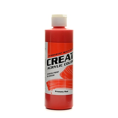 Createx Acrylic Colors Primary Red 8 Oz. [Pack Of 3] (3PK-2006-08)