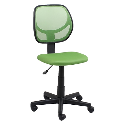 Essentials by OFM E1009-GREEN Mesh Back Task Chair Armless, Green (E1009-GREEN)