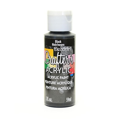 Decoart Crafters Acrylic 2 Oz Black [Pack Of 12] (12PK-DCA47-3)