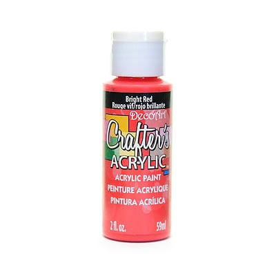 Decoart Crafters Acrylic 2 Oz Bright Red [Pack Of 12] (12PK-DCA22-3)