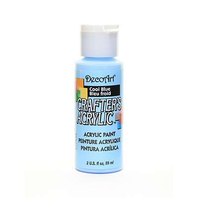 Decoart Crafters Acrylic Paint 2 Oz Cool Blue [Pack Of 12] (12PK-DCA76-3)