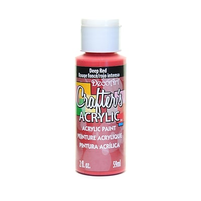 Decoart Crafters Acrylic 2 Oz Deep Red [Pack Of 12] (12PK-DCA21-3)