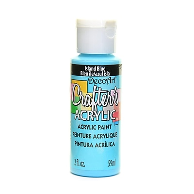 Decoart Crafters Acrylic 2 Oz Island Blue [Pack Of 12] (12PK-DCA123-3)