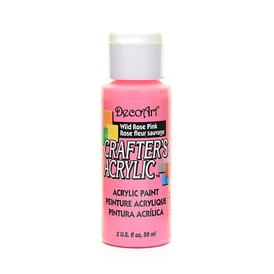 Decoart Crafters Acrylic 2 Oz Wild Rose Pink [Pack Of 12] (12PK-DCA69-3)