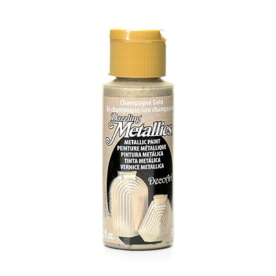 Decoart Dazzling Metallics Champagne Gold [Pack Of 8] (8PK-DA202-3)