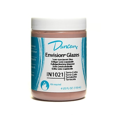 Duncan Envision Glazes Terra Cotta Translucent 4 Oz. [Pack Of 4] (4PK-IN1021-4 97681)