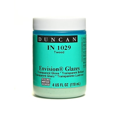 Duncan Envision Glazes Tweed Translucent Speckled 4 Oz. [Pack Of 4] (4PK-IN1029-4 98043)