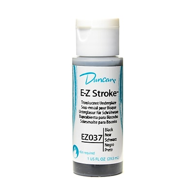 Duncan E-Z Stroke Translucent Underglaze Black 1 Oz. [Pack Of 4] (4PK-EZ037-1 93037)