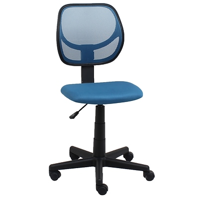 Essentials by OFM E1009-BLUE Mesh Back Task Chair Armless, Blue
