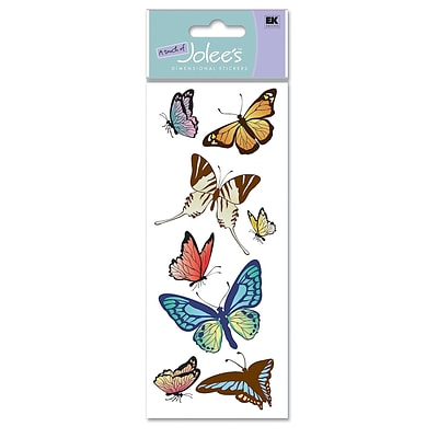 Ek Success A Touch Of JoleeS Dimensional Stickers Butterflies Pack Of 8 [Pack Of 6] (6PK-358722/SPJJ162)