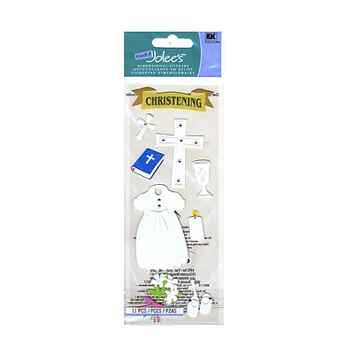 Ek Success A Touch Of JoleeS Dimensional Stickers Christening Pack Of 11 [Pack Of 6] (6PK-291728/SPJJ054)