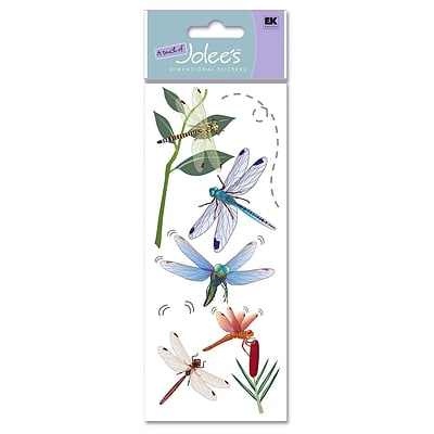 Ek Success A Touch Of JoleeS Dimensional Stickers Dragonflies Pack Of 8 [Pack Of 6] (6PK-358716/SPJJ156)