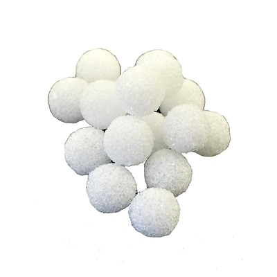 Floracraft Styrofoam Snowballs 1 In. Pack Of 16 [Pack Of 6] (6PK-BA1S/36)