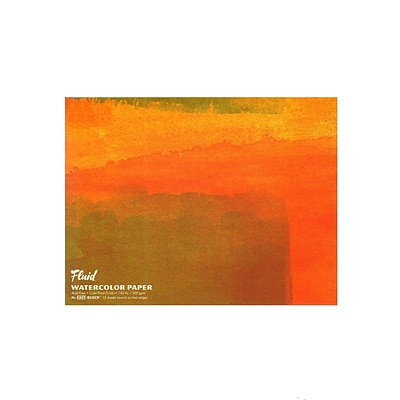 Global Art Fluid Cold Press Watercolor Paper 18 In. X 24 In. Block (881824)