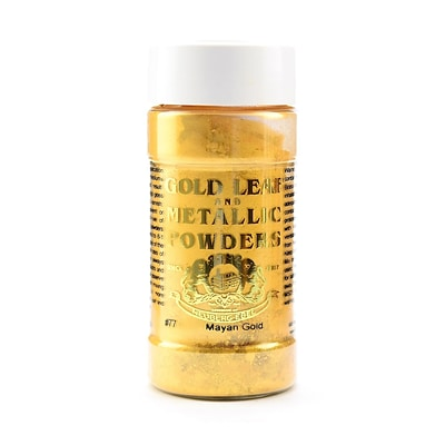 Gold Leaf  And  Metallic Co. Metallic And Mica Powders Mayan Gold Mica 1 Oz. [Pack Of 2] (2PK-GLMP-0077-001)