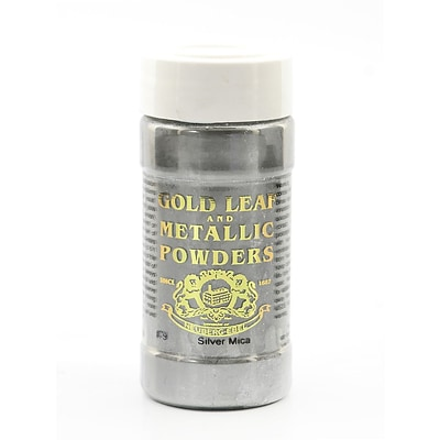 Gold Leaf  And  Metallic Co. Metallic And Mica Powders Silver Mica 1 Oz. (GLMP-0079-001)