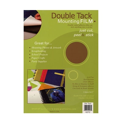 Grafix Double Tack Mounting Film 9 In. X 12 In. Pack Of 3 [Pack Of 3] (3PK-KDT3)