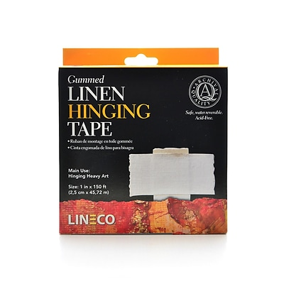 Lineco Gummed Linen Tape 1 In. X 150 Ft. (L533-1050)