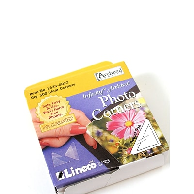 Lineco Infinity Clear Photo Corners Pack Of 500 (L533-0022)