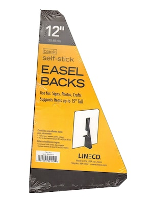 Package of 5 12 inches 328-3012 Lineco Self-Stick Easel Back White