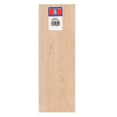 Midwest Balsa Sheets 1/16 In. 4 In. X 36 In. [Pack Of 10] (10PK-6402)